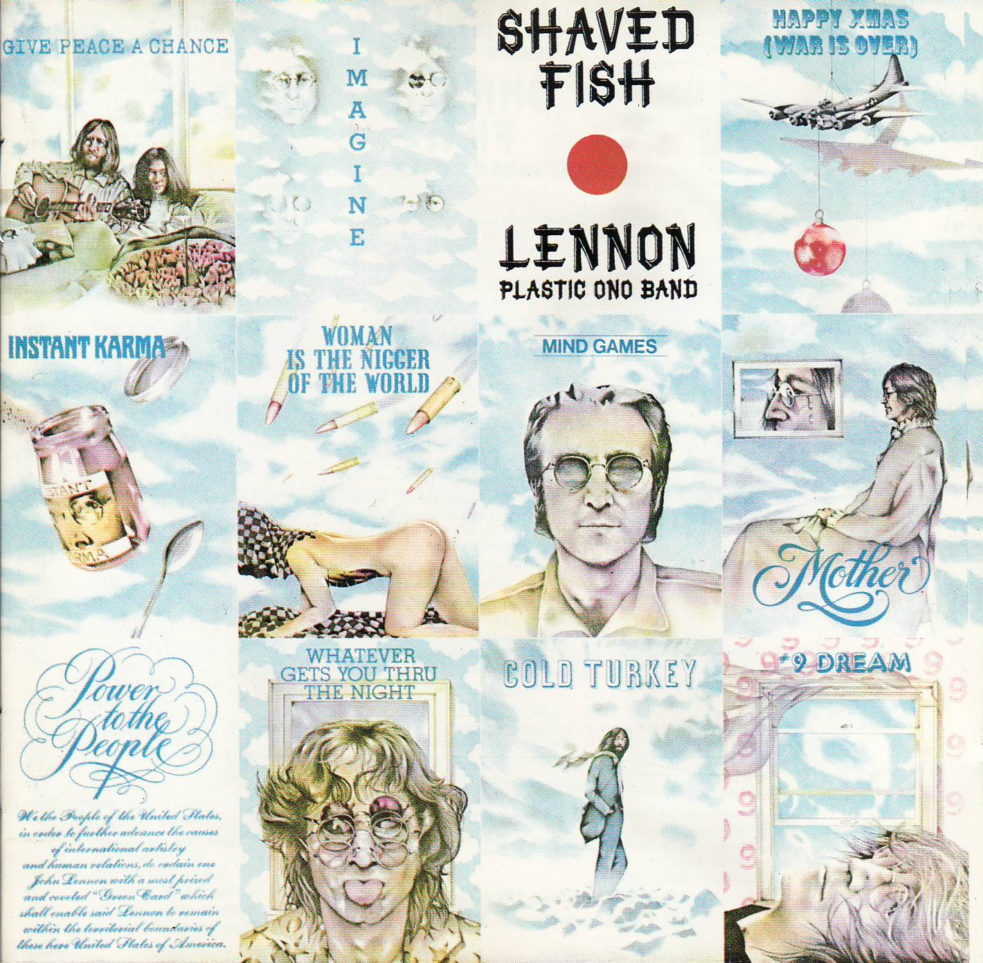 john lennon plastic ono band shaved fish vinyl lover